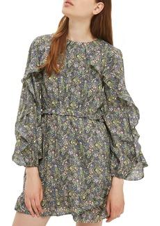 Topshop Liberty Print Ruffle Skater Dress