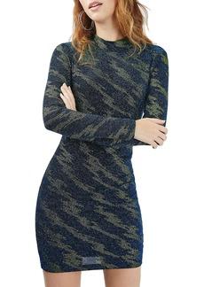 Topshop Lightning Pattern Metallic Body-Con Dress
