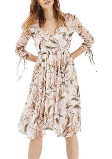 Topshop Lily Floral Mesh Dress
