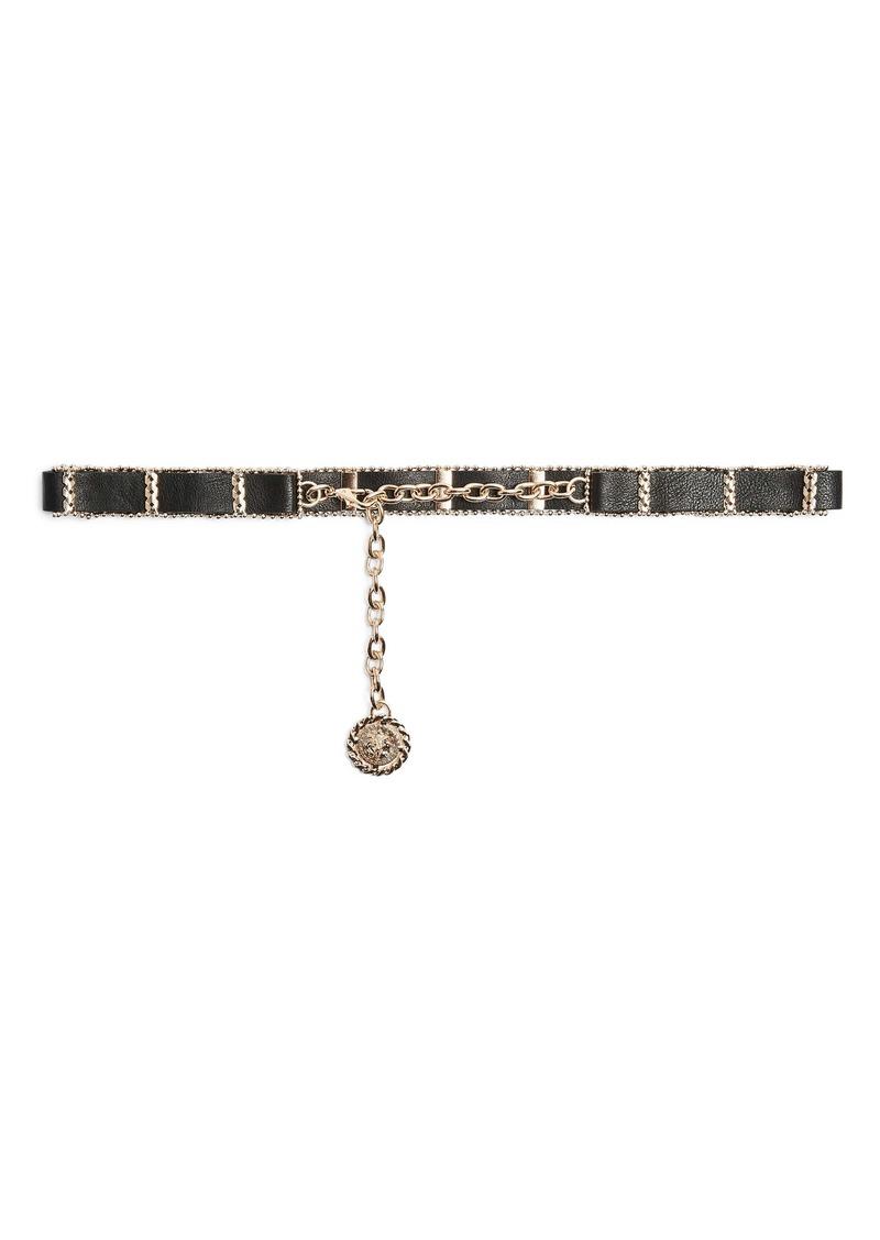 Topshop Lion & Chain Faux Leather Belt