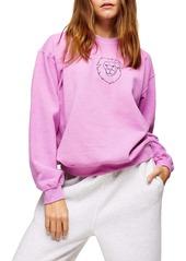 Topshop Lion Line Sweatshirt (Regular & Petite)