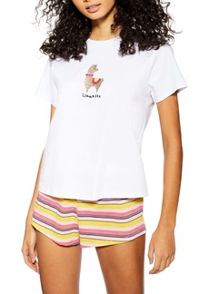 Topshop Llamaste Short Pajamas