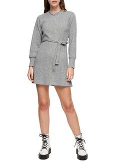 Topshop Long Sleeve Belted Minidress (Regular & Petite)
