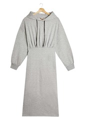 Topshop Long Sleeve Hoodie Sweatshirt Midi Dress