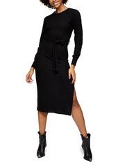 Topshop Long Sleeve Knit Midi Dress