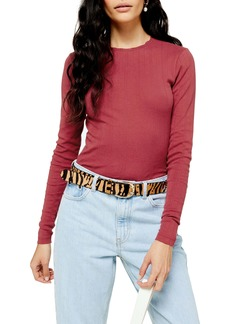 Topshop Long Sleve Pointelle Top
