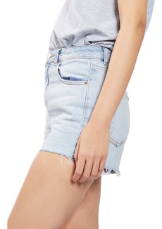 Topshop Longline Denim Mom Shorts