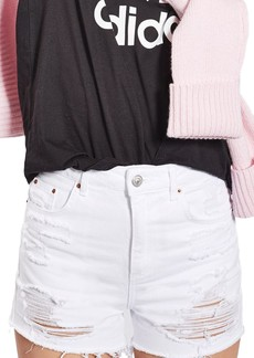 Topshop Longline Rip Mom Shorts (Regular & Petite)