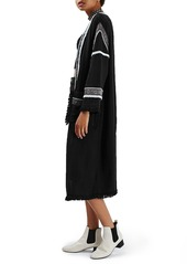 Topshop 'Louis' Embroidered Duster