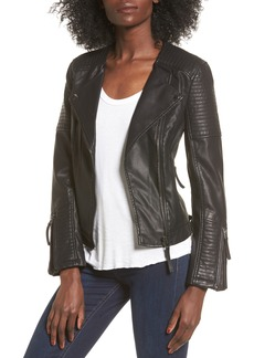 Topshop Luna Faux Leather Biker Jacket