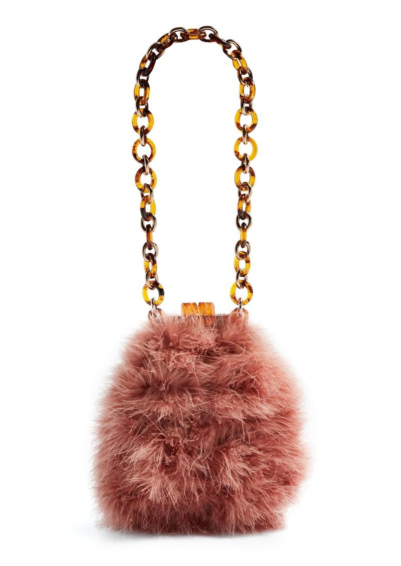 489e9f478e2 Topshop Topshop Marabou Feather Frame Handbag