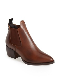 Topshop 'Margot' Leather Ankle Bootie (Women)