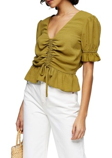 Topshop Margot Ruched Top