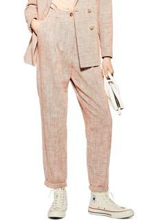 Topshop Marl Peg Trousers