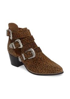 Topshop Marmalade Leopard Print Buckle Bootie (Women)