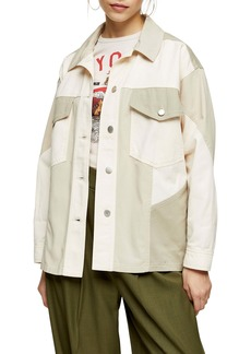 Topshop Matty Panel Shirt Jacket