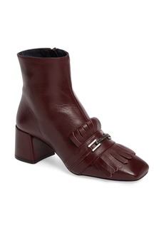 Topshop 'Maximum Fringe' Loafer Boot (Women)