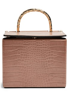 Topshop Meg Boxy Faux Leather Crossbody Bag
