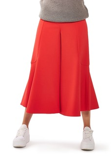 Topshop Meg Zip Frill Palazzo Trousers