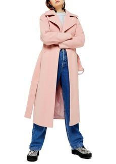 Topshop Melanie Herringbone Trench Coat