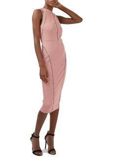 Topshop Mesh Back Body-Con Midi Dress