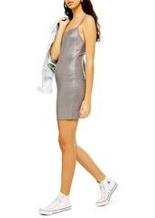 Topshop Metallic Foil Body-Con Minidress