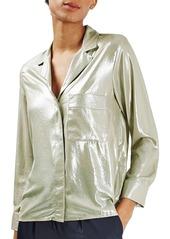 Topshop Metallic PJ Style Shirt