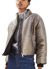 Topshop Metallic Puffer Jacket