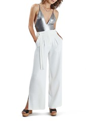Topshop Metallic Strappy Bodysuit