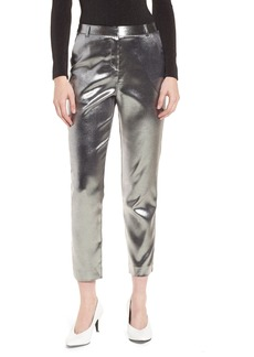 Topshop Metallic Suit Trousers