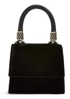 Topshop Mini Fancy Velvet Crossbody Bag