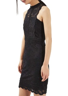 Topshop Mix Lace Body-Con Dress