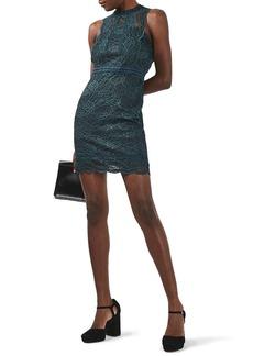 Topshop Mix Lace Body-Con Dress (Petite)
