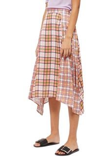 Topshop Mixed Check Midi Skirt