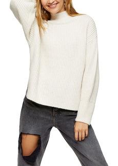 Topshop Mock Neck Crop Sweater