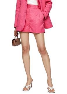 Topshop Moire High Waist Shorts