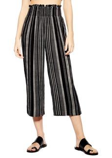 Topshop Monochrome Stripe Trousers