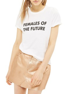 Topshop Moto High Waist Metallic Denim Miniskirt (Regular & Petite)