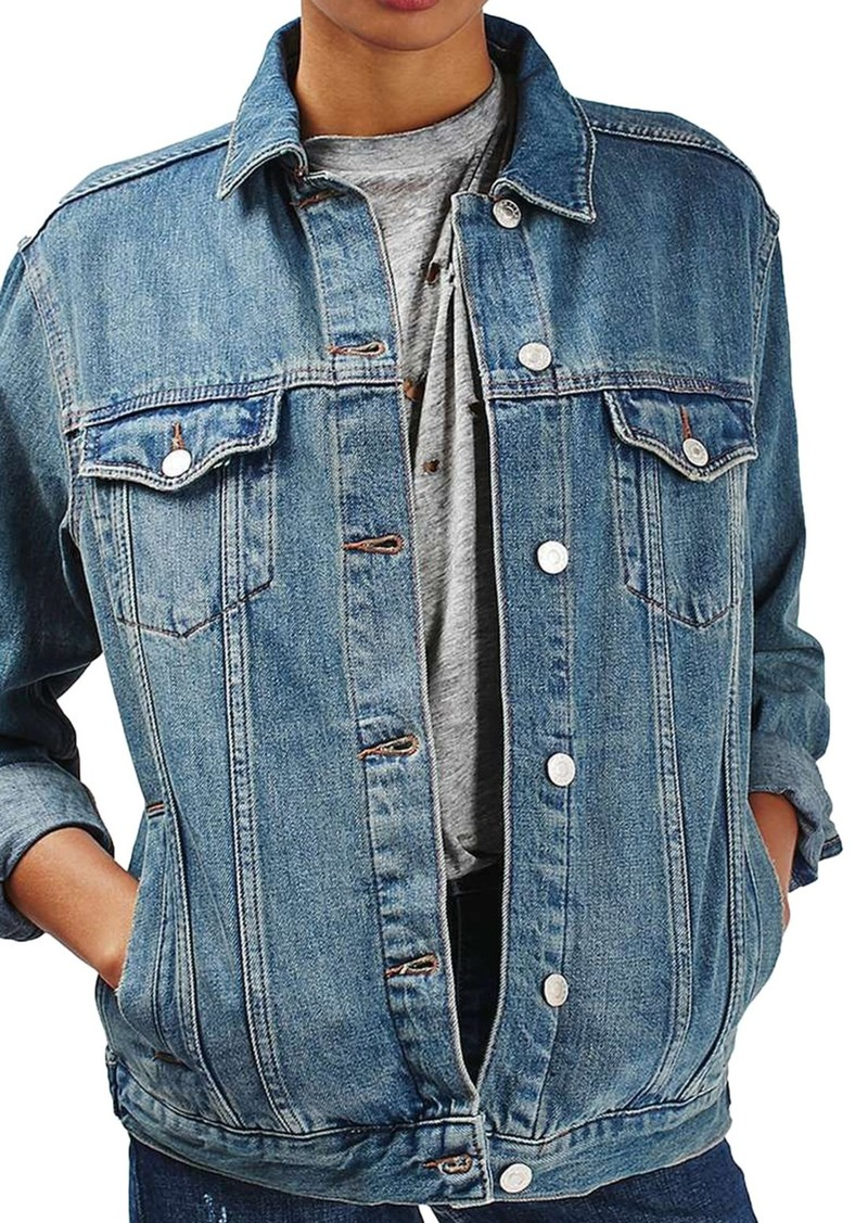 Topshop Moto Western Denim Jacket