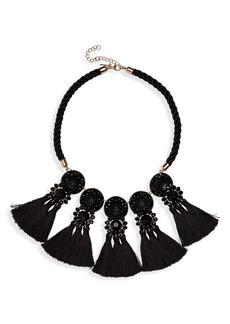 Topshop Multi Tassel Choker Necklace