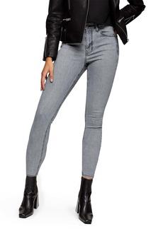 Topshop New Grey Jamie High Waist Crop Skinny Jeans (Regular & Petite)