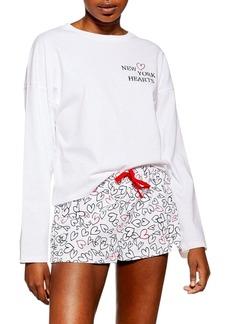 Topshop New York Hearts Short Pajamas
