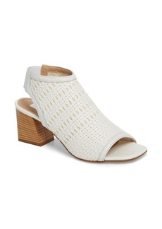 Topshop Nifty Woven Flared Heel Sandal (Women)