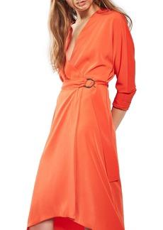 Topshop O-Ring Wrap Midi Dress