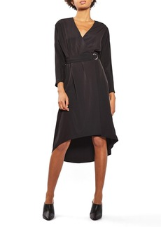 Topshop O-Ring Wrap Midi Dress