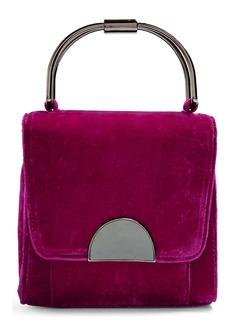 Topshop Olivia Velvet Crossbody Bag