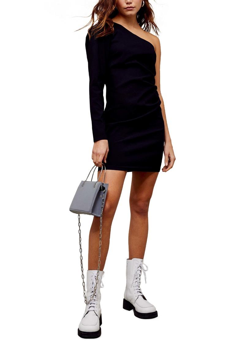 Topshop One-Shoulder Minidress