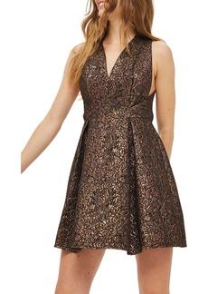 Topshop Opulent Jacquard Skater Dress