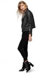 Topshop 'Orbit' Leather Moto Jacket