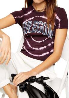 Topshop Oregon Tie Dye Graphic Tee